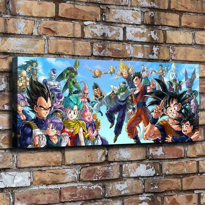 "12""x30""Dragon Ball HD Canvas prints Painting Home Decor room Picture Wall art"