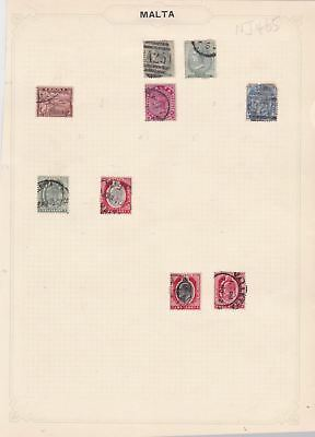 malta stamps on  page   ref 10501