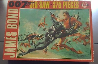 "Vintage James Bond 007 Jigsaw Puzzle Sean Connery ""thunderball"" #2 Of 4 Uk 1965"