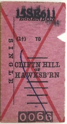 VR Ticket - ESSENDON (1) to CLIFTON HILL or HAWKSBURN - 1961 Single