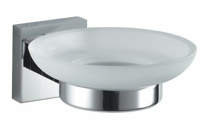 Haceka Mezzo Chrome Soap Holder with Glass Insert Stainless Mat, Glass Satin