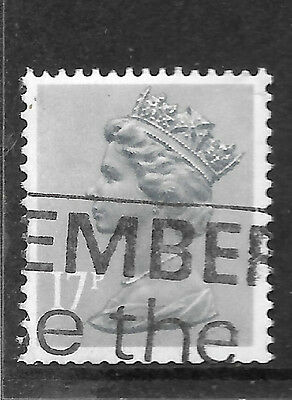 17p machin with partial underprint - used GB stamp - see scan