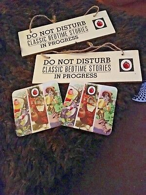 Ladybird Book Two Coasters ,and Two Do Not Disturb Signs
