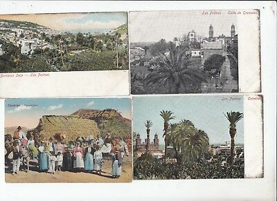Las Palmas 9 Postcards 3 used 6 unused