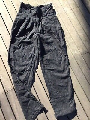 Vintage - Remix black trousers - possibly mid 80's - Size 11