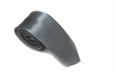 Classic solid color Tie Slim Neckties for Wedding Party Office Gift Colour Gray