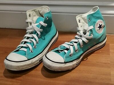 All Star Converse Chuck Taylor Aqua Blue Trainer Shoes Size 6 Good Used...
