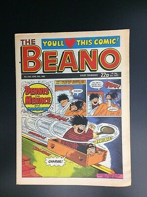 The Beano  UK Paper Comic No. 2447 June 10 1989