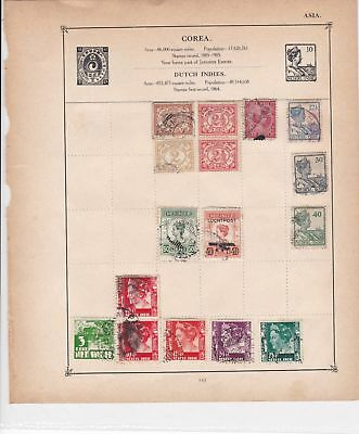 corea stamps page ref 17607