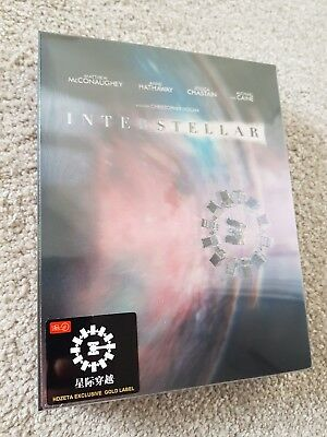 INTERSTELLAR [4K UHD + 2D] Blu-ray STEELBOOK [HDZETA] DOUBLE LENTICULAR  *wOw*