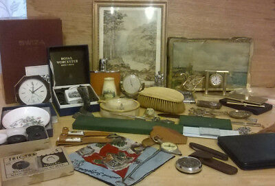 Job lot of antique and vintage collectables