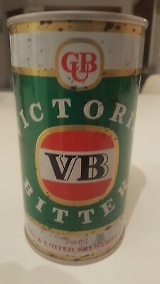 V B Collectable Victoria Bitter BEER CAN  750ml
