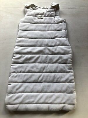 Country Road Baby White Velour Winter Sleeping Bag Size M 12-24 Months