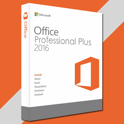 Microsoft Office 2016 Professional Plus Original Email Download Vollversion Key