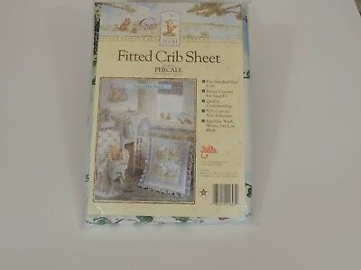"""Classic Pooh Crib Sheet """"Pooh and His Friends"""" New"""