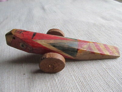 Antique Japanese Wooden Toy, Signed