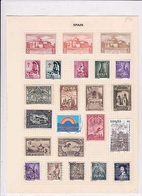 Spain Stamps on album page Ref 15122