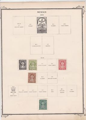 mexico stamps on 2 album page ref 13464