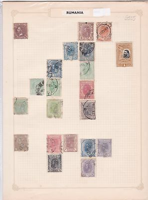 romania early stamps on album page ref 12997