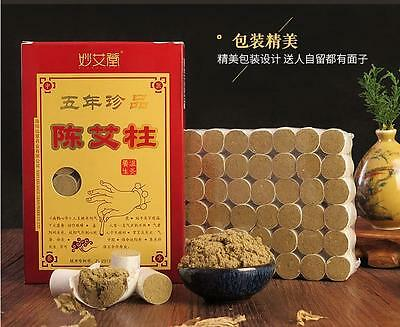 Five Years Pure Moxa Roll Stick Old Moxa Roll For Moxibustion 54pcs/box艾柱