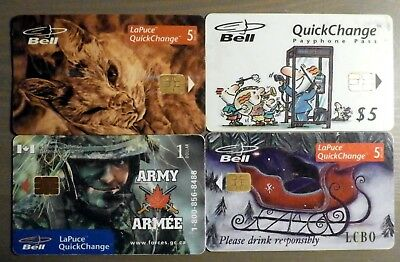 BELL CANADA Phone cards (No monetary value) Variety of 8 different cards