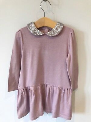 Little White Company Girl Lilac Dress 12-18 months Good Condition