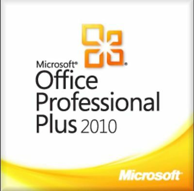Microsoft Office Professional Plus 2010 MS Office Pro Plus Vollversion 1PC Email