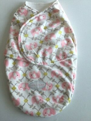 Blankets and Beyond Baby Swaddle Bag Pink Elephants