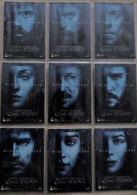 Game Of Thrones Season 7 - Winter Is Here Scarce Chase Set