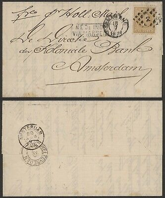 Dutch Indie 1891 - Cover to Amsterdam Netherlands AIX