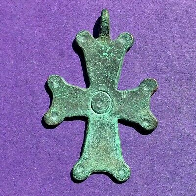 97AB Byzantine bronze cross 40mm 6.0g X-XII century