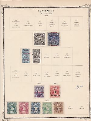 guatemala stamps page ref 17204