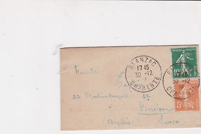 france 1924 mini stamps cover ref 20834