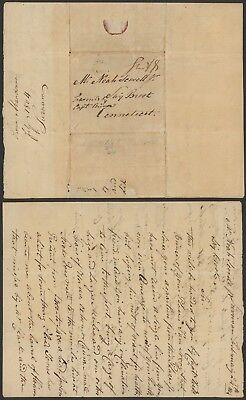 Suriname 1804 - Stampless cover to USA AIX