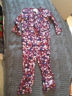 Girls Mantaray long Sleeve Jump Suit. Age 3-4 Gorgeous Purples!