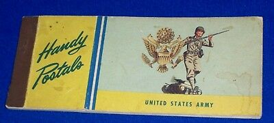WWII US Army HANDY POSTALS Postcard folder for Home Front or Soldiers