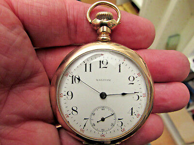 Vintage Waltham USA Made 14ct Rose Gold-Plated Pocket Watch -GWO/Good 4 Age