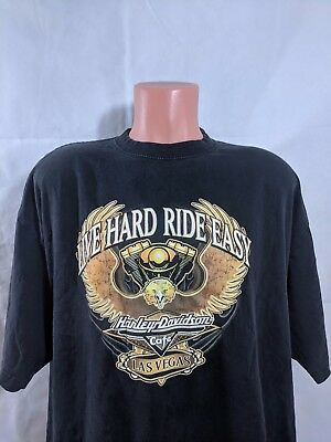Harley Davidson Cafe T-Shirt Sz 2XL Made In USA Las Vegas