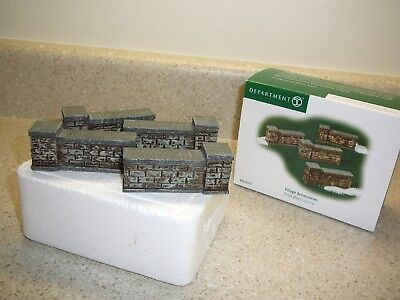 "Department 56 - Snow Village Accessories -  ""BRICK WALLS-SET OF 4"""