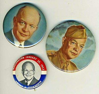 Dwight D. Eisenhower Ike President Pinback Buttons Pins Jewelry Lot (7 items!)