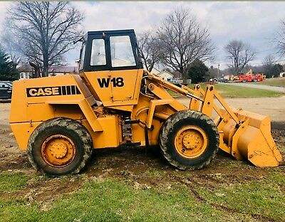 CASE W18 ARTICULATED WHEEL PAY LOADER  TRACTOR  needs engine work