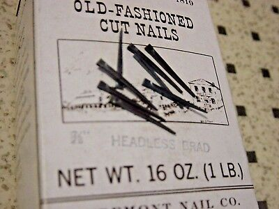 Antique Furniture Restoration Tremont Cut Nail 50 Pc Lot Headless Brad 7/8""