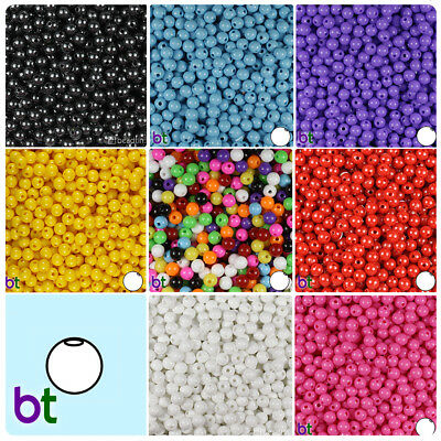 500pcs BeadTin Opaque 9mm Oat Plastic Beads Color choice