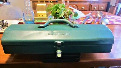 Vtg Craftsman Metal Tool Box