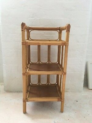 1970's 70s Vintage Antique Bamboo Side / End Table (x4 Avail)
