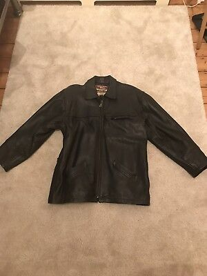 Mens Black Reportage Soft Faux Learher Jacket  Size XXL