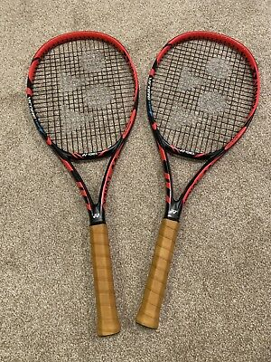 Two 2x Yonex Vcore Tour F 97 Tennis Racquets 4 3 8 Matched Pair