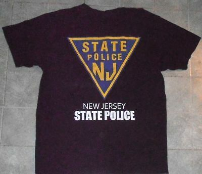 NEW JERSEY STATE POLICE NJ Department shirt adult LARGE