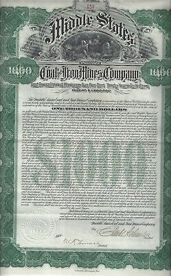 Middle States Coal and Iron Mines Company, Gold Bond 1906