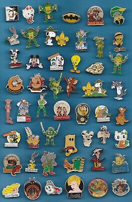 LOT DE 50 PIN'S BD / DISNEY / CARTOON / DIVERS TITI BATMAN ASTERIX ++++++w2+++